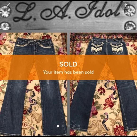 L.A. idol Denim - SOLD EUC 33x34 LA Idol Bootcut Jeans